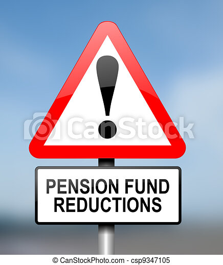 Pension fund disappointment. - csp9347105