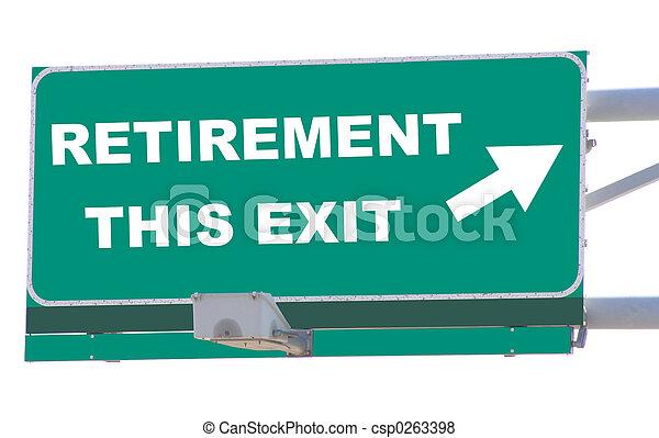 pensionierung, ausgang - csp0263398