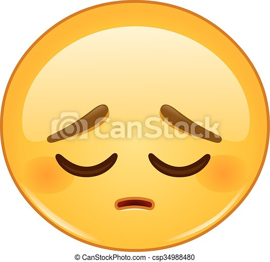 Pensive emoticon - csp34988480