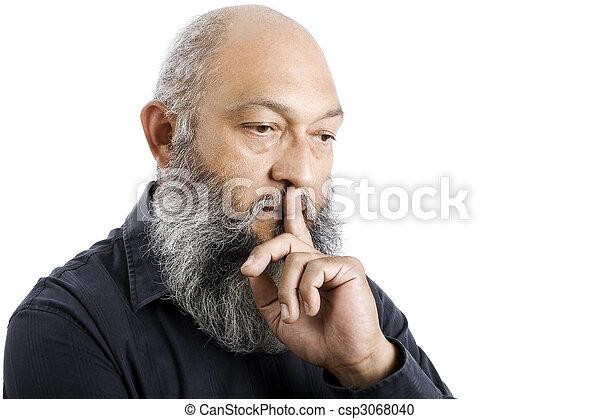Pensive man - csp3068040