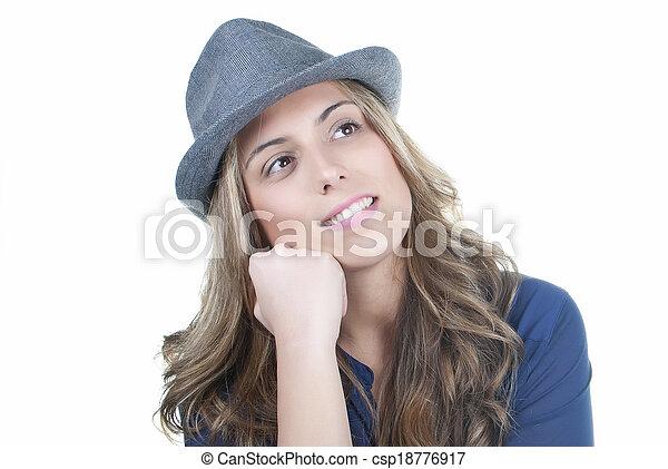 pensive woman - csp18776917