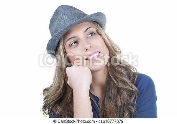 pensive woman - csp18777879