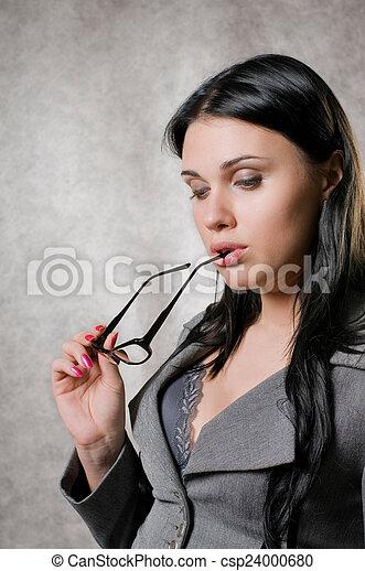 Pensive woman - csp24000680