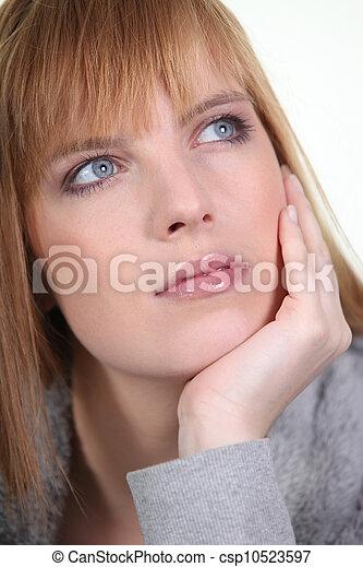 Pensive woman - csp10523597