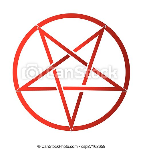 the five pointed pentagram over a white background clipart vector rh canstockphoto com pentagram vector file pentagram vector file