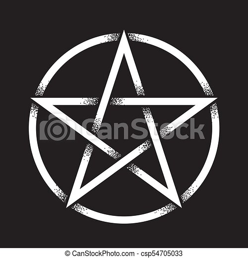 Pentagram Dot Work Vector Illustration Pentagram Or Pentalpha Or