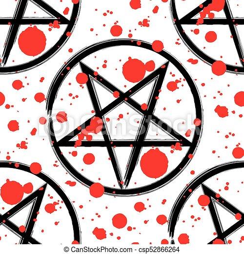 Pentagram Occult Symbol Seamless Pattern Pentagram Seamless Pattern