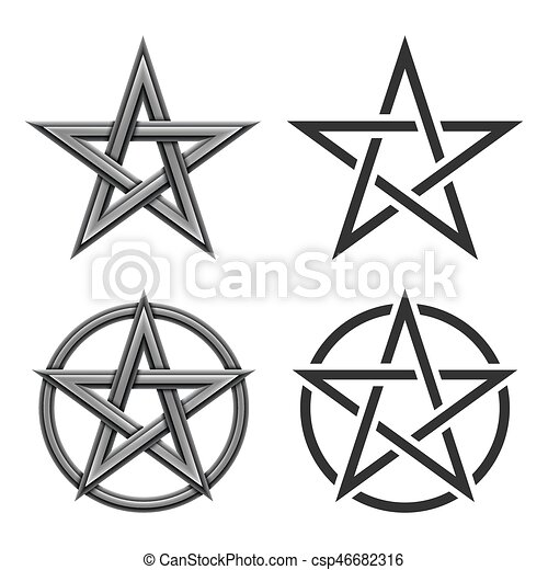 Pentagram Symbol Collection Collection Of Pentagram Star Symbol