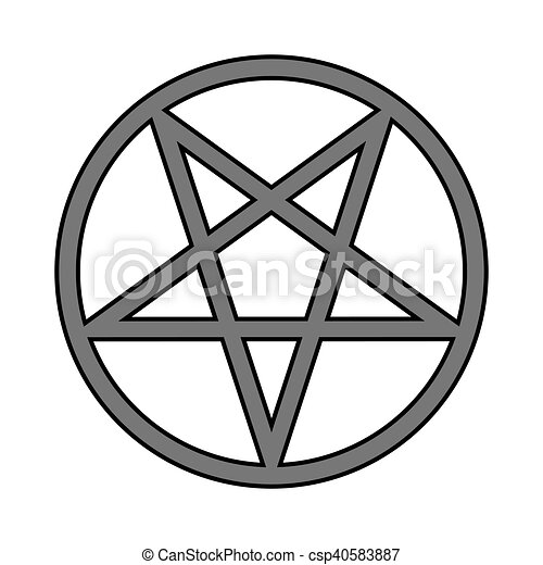 Pentagram Symbol Icon On White Pentagram Symbol Icon On Vector