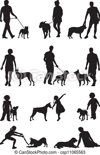 People and dog - csp11065563
