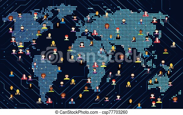 people are connected with whole world - csp77703260