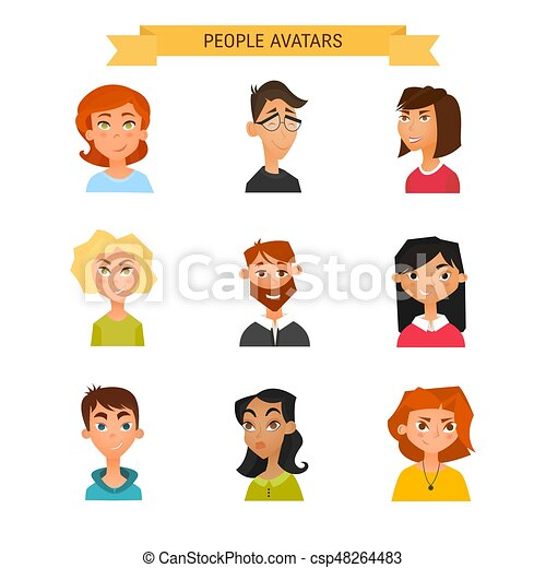 avatar character design people avatars collection