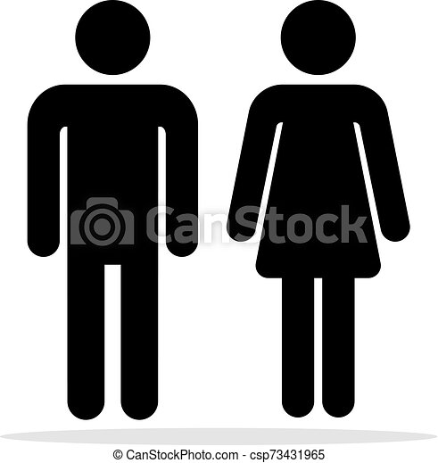 People Bathroom Icons Men And Women Toilet Symbols Female And Male Bathrooms Vector Signs Woman And Man Silhouettes For Wc Canstock