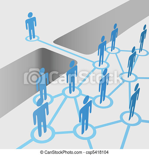 People bridge gap connect join network merger team - csp5418104
