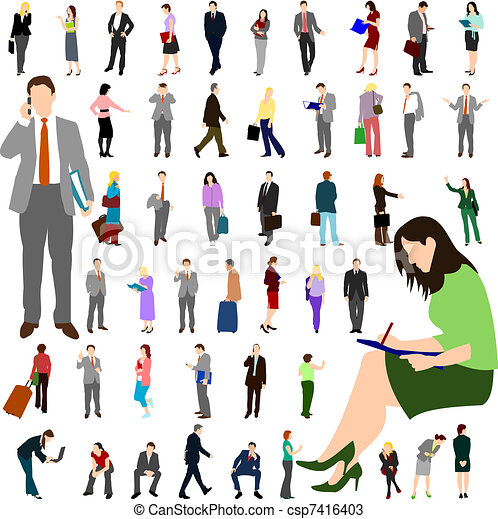 People - Business - Large Set 01 - csp7416403