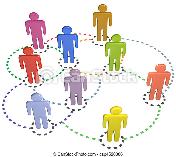 people circle connections social business network - csp4520006