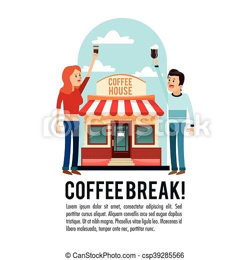 people coffee break shop icon vector graphic woman man clip art rh canstockphoto com