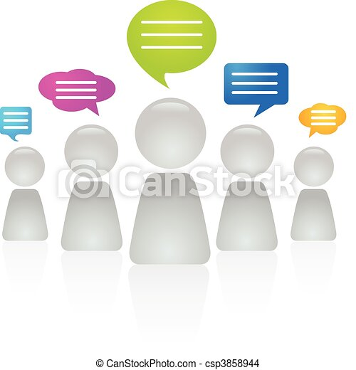 People communicating - csp3858944