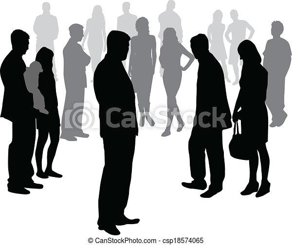People crowd - csp18574065
