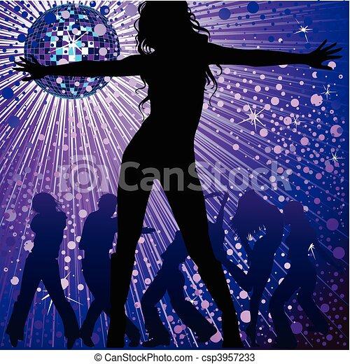 people dancing in night-club - csp3957233