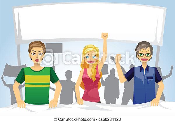 People demonstration - csp8234128