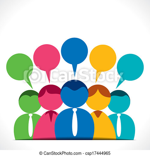 people discussion or communication with message bubble clip art rh canstockphoto com communication clipart animation communication clip art pictures