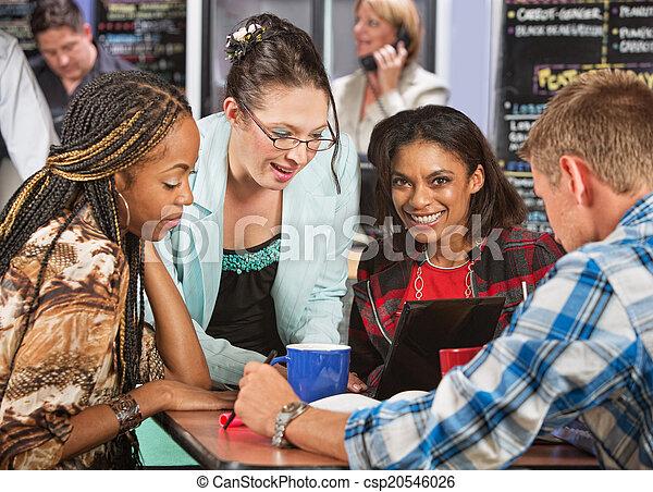 People Doing Homework