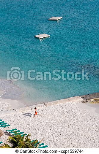 People Enjoying the Beach - csp1539744