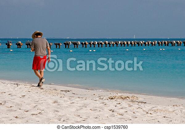 People Enjoying the Beach - csp1539760