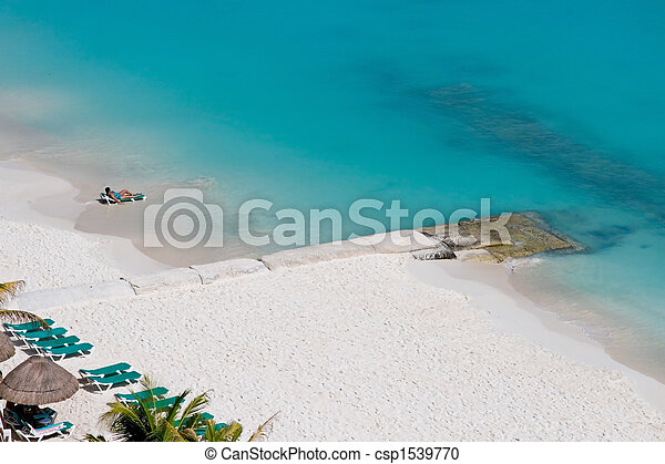 People Enjoying the Beach - csp1539770