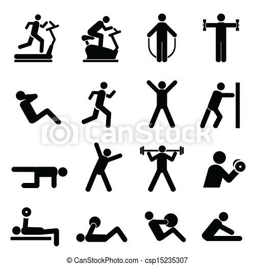 People exercising - csp15235307