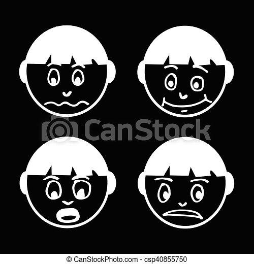 people face emotion icon illustration design - csp40855750