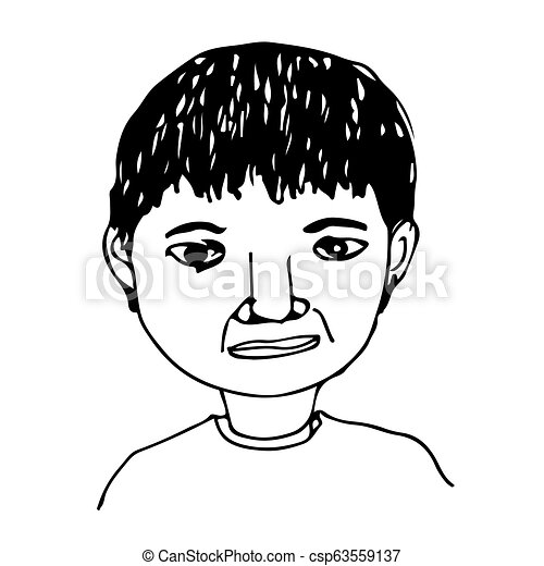 People face hand draw - csp63559137
