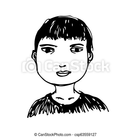People face hand draw - csp63559127