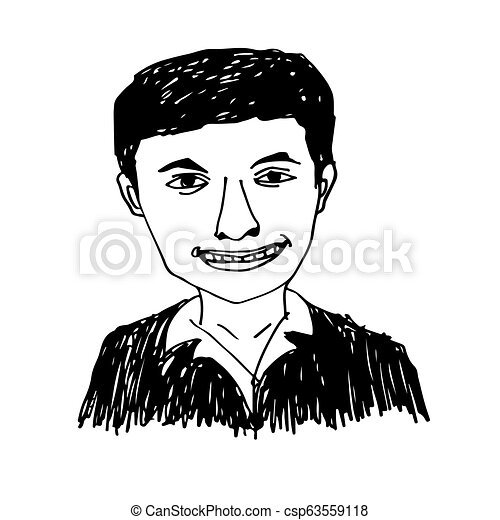 People face hand draw - csp63559118