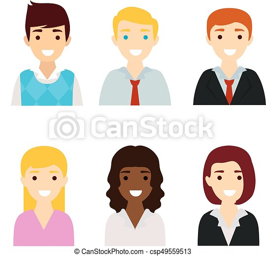 people flat icon design https www canstockphoto com people flat icon design 49559513 html