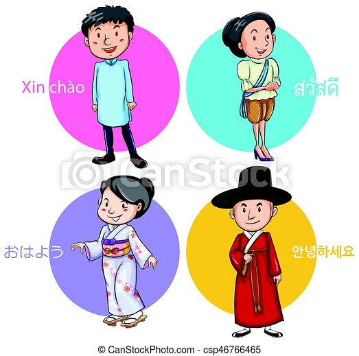 people from different countries greeting illustration clip art rh canstockphoto com greeting clip art free greeting clipart free