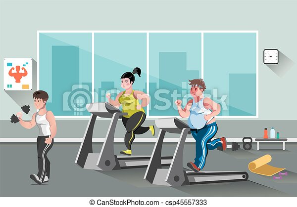 Gym and fitness lifestyle royalty free vector image