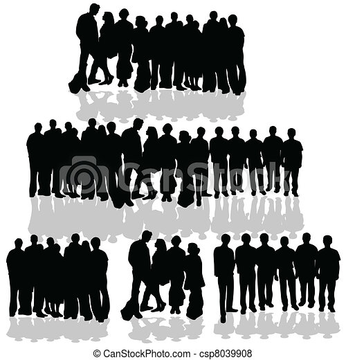 People group on white. People group vector black ...