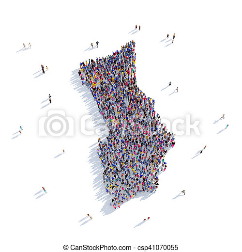people group shape map Herm - csp41070055