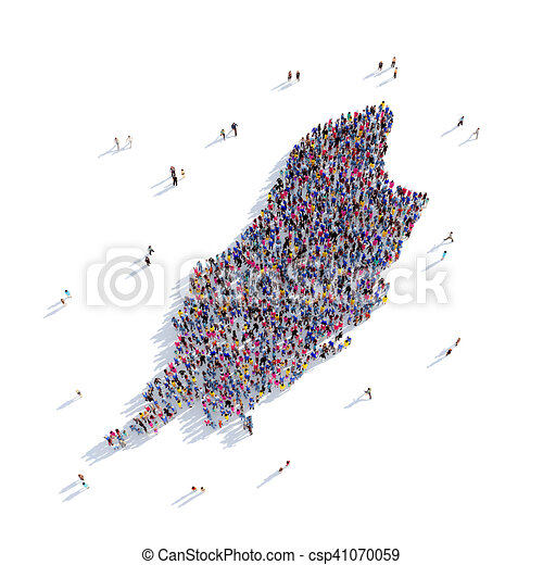people group shape map Isle of Man - csp41070059
