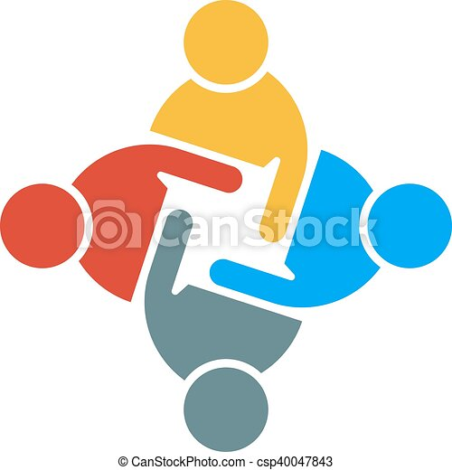 people group teamwork logo vector graphic design eps vector rh canstockphoto co uk clipart teamwork makes the dream work clip art teamwork images