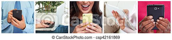 People hands with smartphone - csp42161869