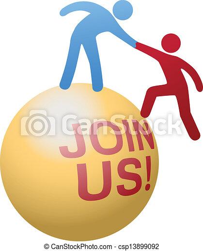 People help join social website - csp13899092