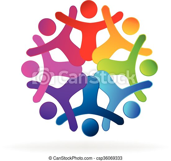 people holding hands logo people holding hands concept of rh canstockphoto com