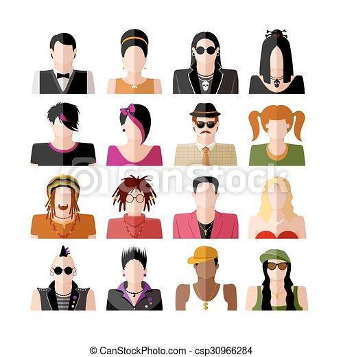People icon set - csp30966284