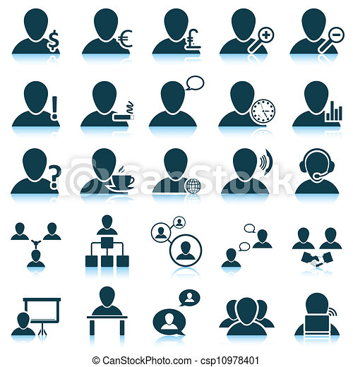 People icon set - csp10978401