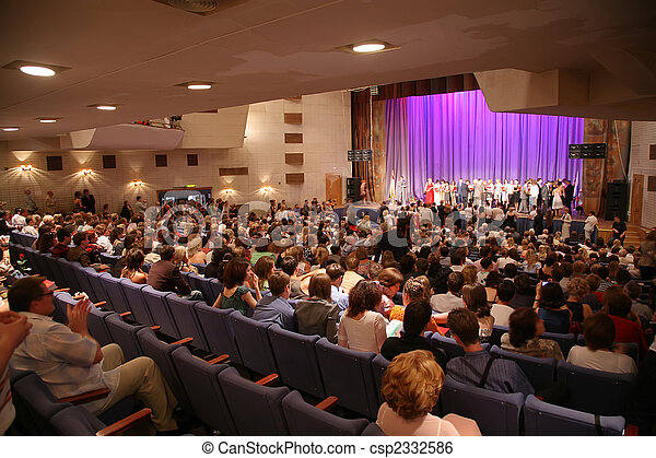 people in the concert hall - csp2332586