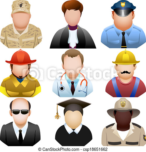 People in uniform icon set - csp18651662
