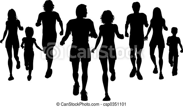 People jogging - csp0351101